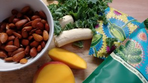 Day 1 Green smoothie ingredients