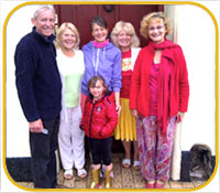 Cranleigh House Happy Guests from Devon B & B